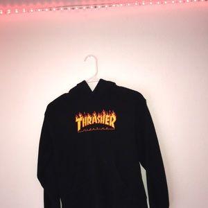 black medium thrasher hoodie